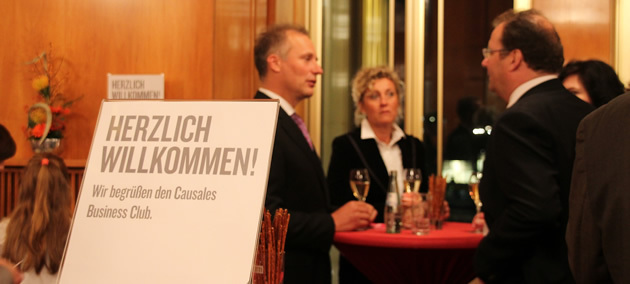 Oper Leipzig- Wilkommensschild für den Causales-Business Club